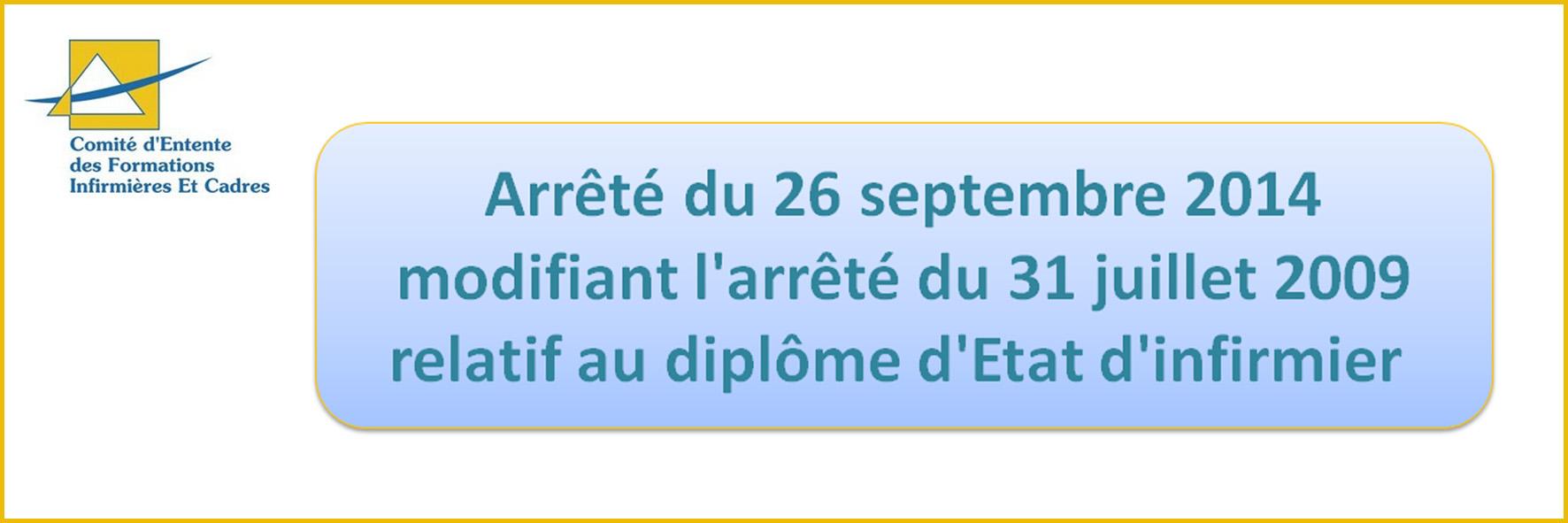 Arrêté Du 26 septembre 2014
